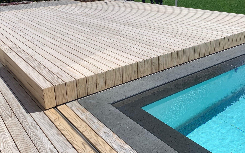 Cover ISOLA - Copertura a terrazza per piscina mobile | Favaretti Group