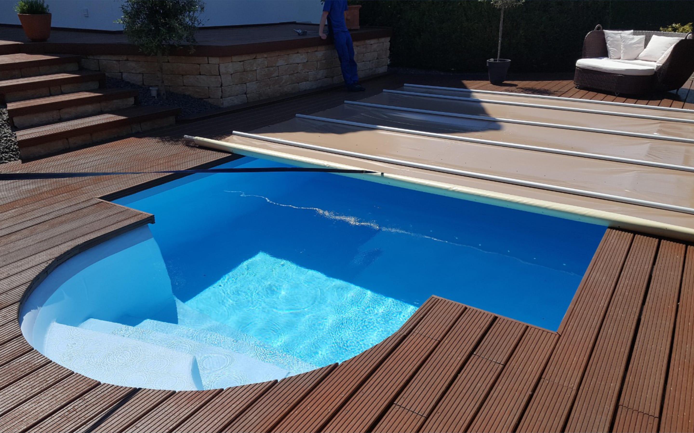Cover POOLGARD - Copertura piscina a barre 4 stagioni | Favaretti Group