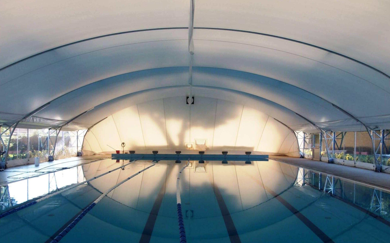 Cover tensostrutture per piscine in legno lamellare | Favaretti Group